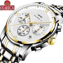цена New concept mechanical three-eye six-pin multi-function calendar sports waterproof men's quartz watch онлайн в 2017 году