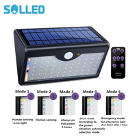 60 LED Solar Light Super Bright Upgraded Lamp Lights For Outdoor Wall Yard Garden With Five Modes In One Solar Lamps