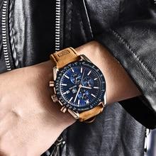 BENYAR Brand Luxury Silicone Strap Waterproof Sport Quartz ChronographMen Watches