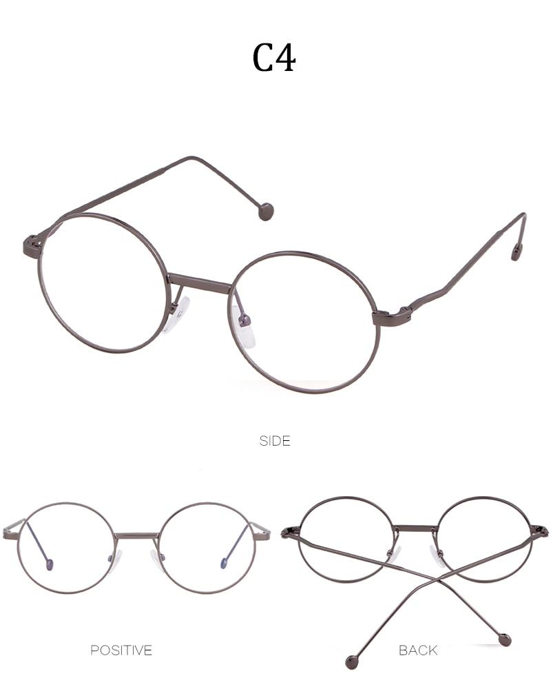 GESCHICHTE 2018 Vintage Runde Brille Rahmen Frauen Gefälschte Kreis ...