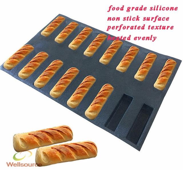 16 Cavity Mini Loaf Silicone Mold Narrow Rectangle