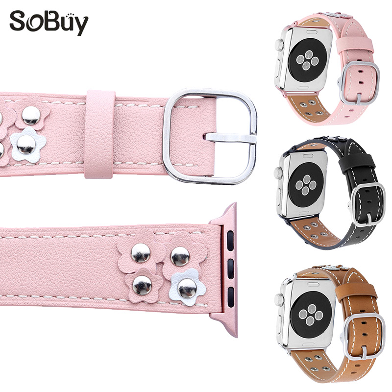 So buy classic Genuine Leather strap for apple watch 42mm i watch Wrist band 38mm bracelet for iwatch series 1/2/3 watchbands