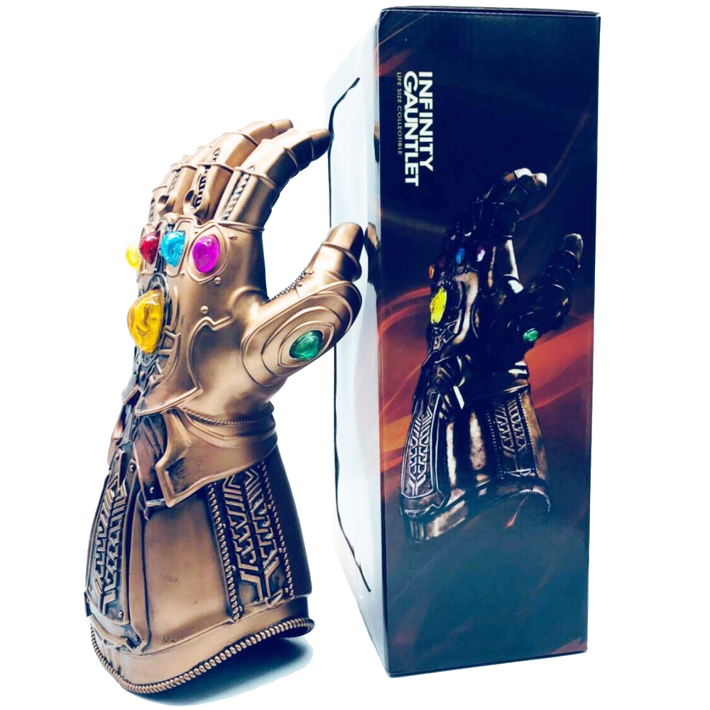 40 cm Avengers Infinity Guerra Infinity Gauntlet Thanos Guanti Cosplay Puntelli Action Figure