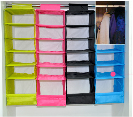 Superior IKEA Style Washable Color Organizer Collection Hanging Accessory Shelves,  6 Shelf Shoes Organizer,