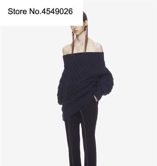 Для женщин с Shouder Loog рукав летучая мышь хлопок и шерсть трикотажные свободные пикантные осень зима свитер Мини платье темно синий/красн