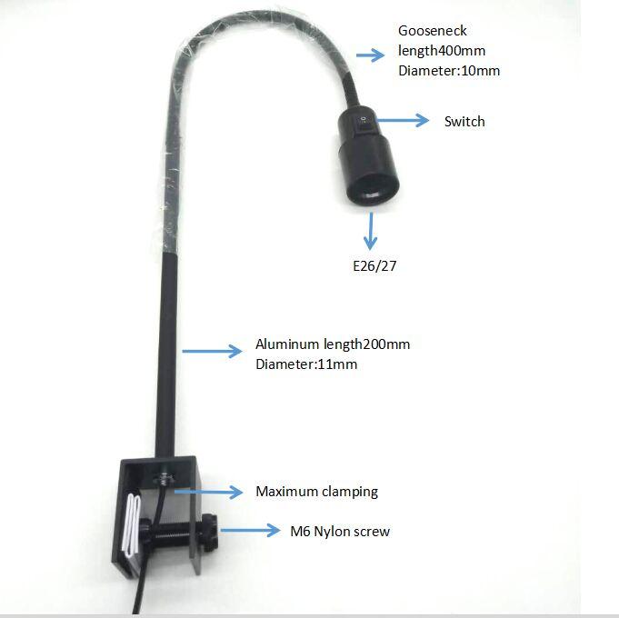 10 Nickel Bulb holder lampholder screw in 10mm hook chain hanging light hook G2