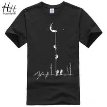 HanHent 2017 Europe Style T shirts Men Summer Fashion Climb To The Moon Printed Tshirt Casual Short Sleeve O-neck T-shirt