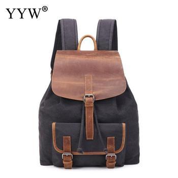 Men'S Backpack Vintage Canvas Backpack School Bag Male Travel Backpack Large Capacity Laptop Backpack Mochila Hombre