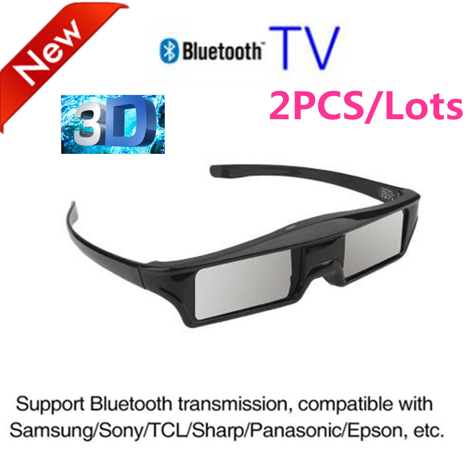 2PCS/lots Universal 3D Bluetooth Rechargeable Active especially for Samsung SSG5100 TV /Sony TV /Panasonic TV/ epson projector