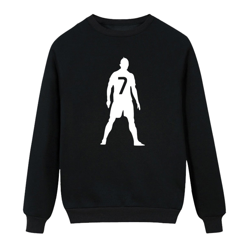 Cristiano Ronaldo 7 men letter Print long sleeve 2016 winter streetwear harajuku clothing High quality Hoodies, Sweatshirts