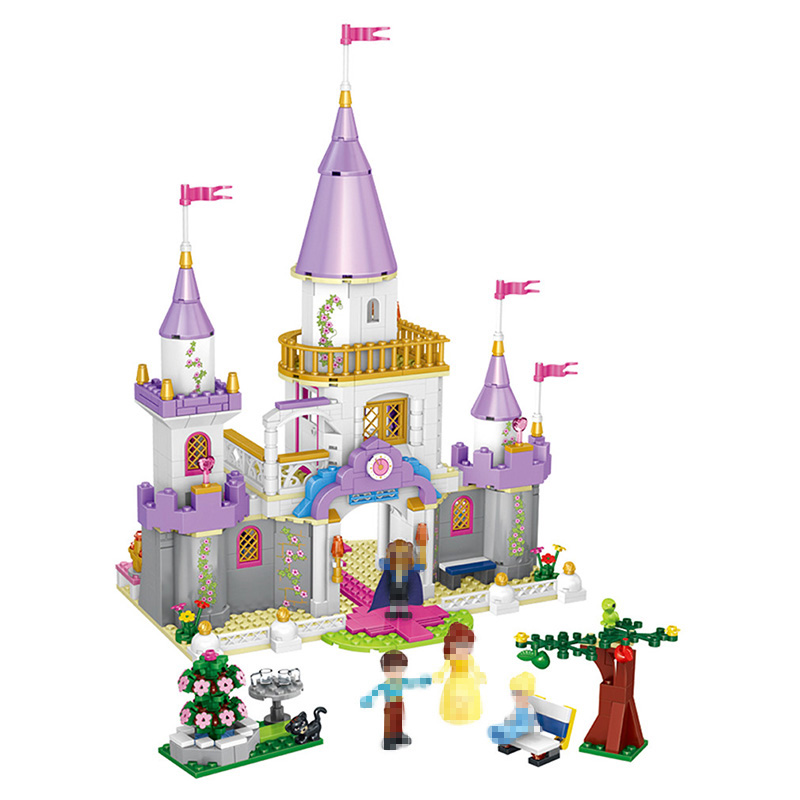 New 667 Pcs Beauty and Beast Castle Building Blocks Kit Jumbo for Girl Figures Kids Play Castle Cartoon Toys Compatible Lepins
