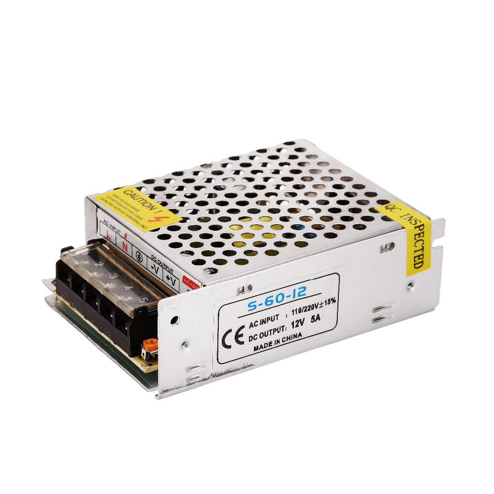 Ovladač LED 12V Přepínací napájecí adaptér Transformátor 60W 120W 360W Hliník pro LED pásek Linghting.