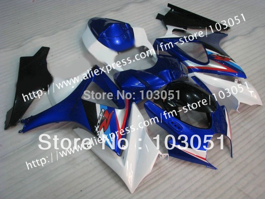 7 gifts body kit for SUZUKI GSXR 1000 2007 fairing GSXR 1000 fairings 2008 fairing K7 07 08 dark blue with glossy black sy30 napapijri guji check dark blue