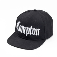 "Embroidered ""Compton"" Snapback Cap"