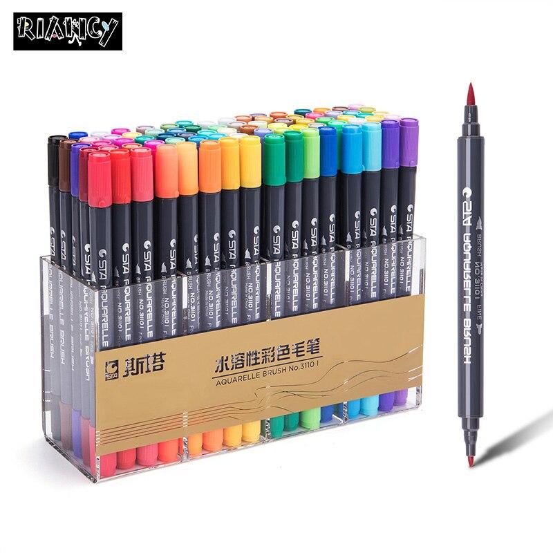 Colors Manga Water Based Pigment School art supplies markers brush pen fineliner permanent marker whiteboard marker sharpie 4302