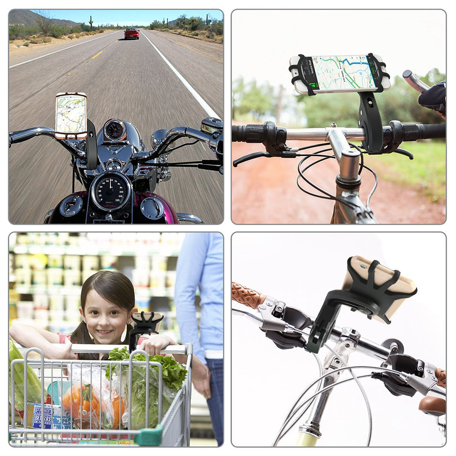360 Degree Rotation Bicycle Phone Holder For Iphone X Iphone 8 Smartphone  Bike Handlebar Mount Bracket  Navigation Stand Holder (5)