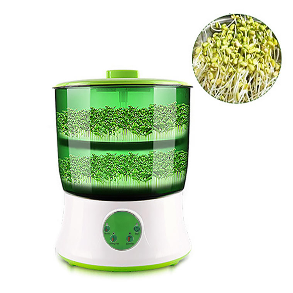 110V/220V Automatic Bean Sprouts Maker Thermostat Electric Germinator Green Seedling Sprout Growth Bucket Machine US EU image
