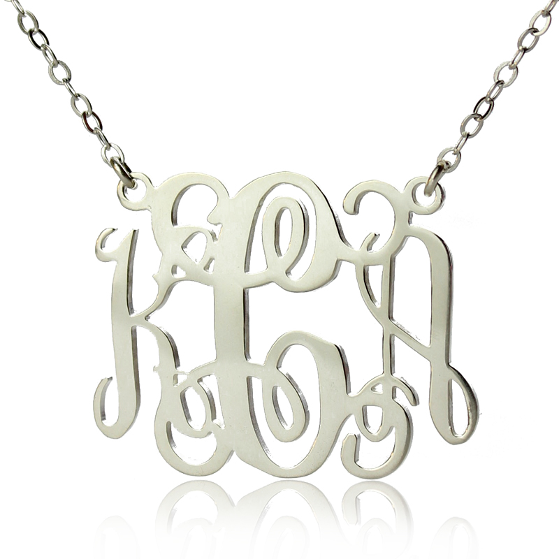 Aliexpress buy new personalized necklace 925 sterling silver 3 aliexpress buy new personalized necklace 925 sterling silver 3 letters name necklace monogram initial necklace monogram personalized jewelry from aloadofball