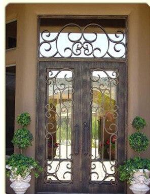 Wholesale Wrought Iron Doors Iron Double Doors Iron Doors Iron Front Doors For Sale  Hc25