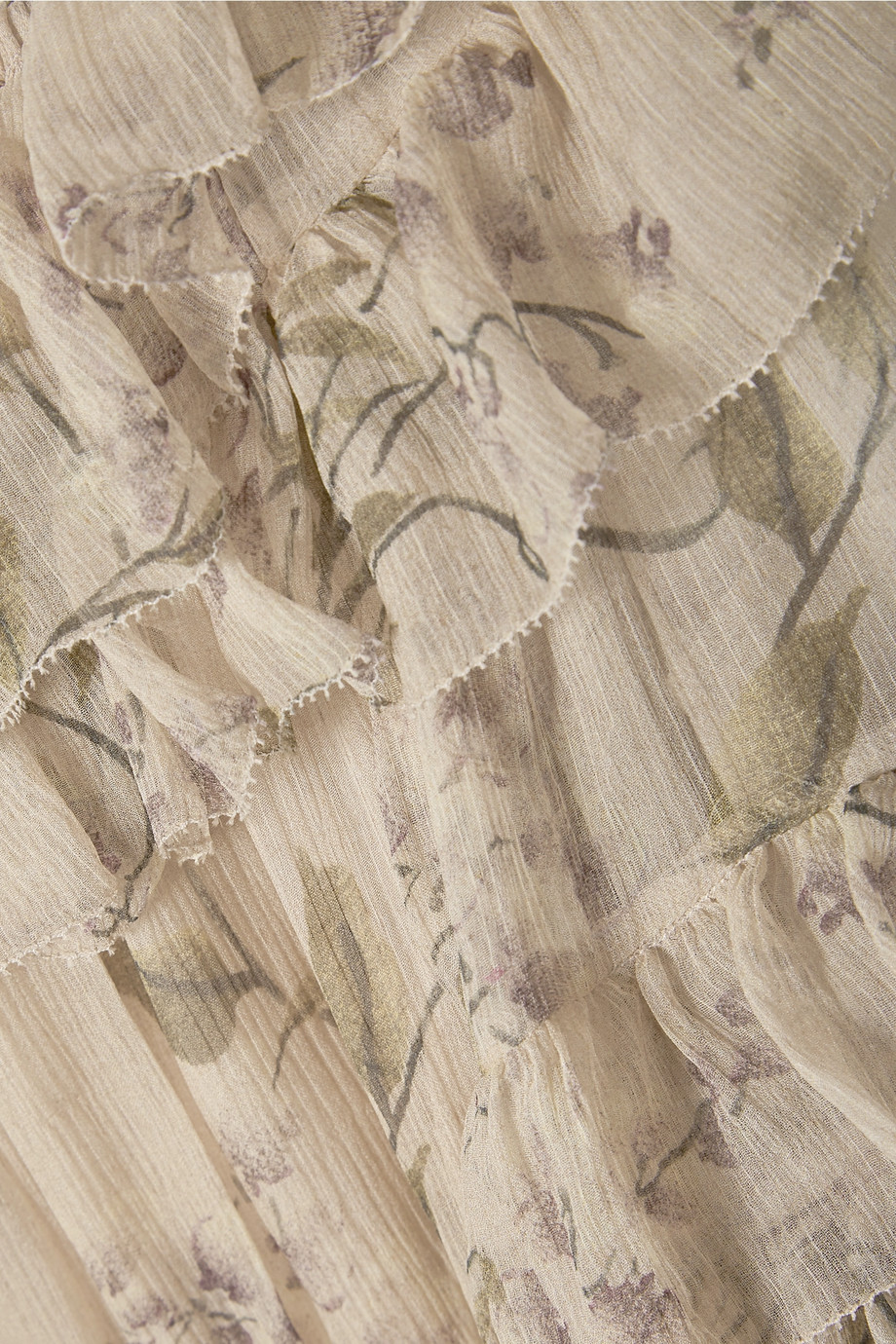 Volants la Femmes Soie épaule Débridée Soie De Imprimé Hors Robe Élastique À Multicolored Décolleté Midi mousseline gIgSwq6H