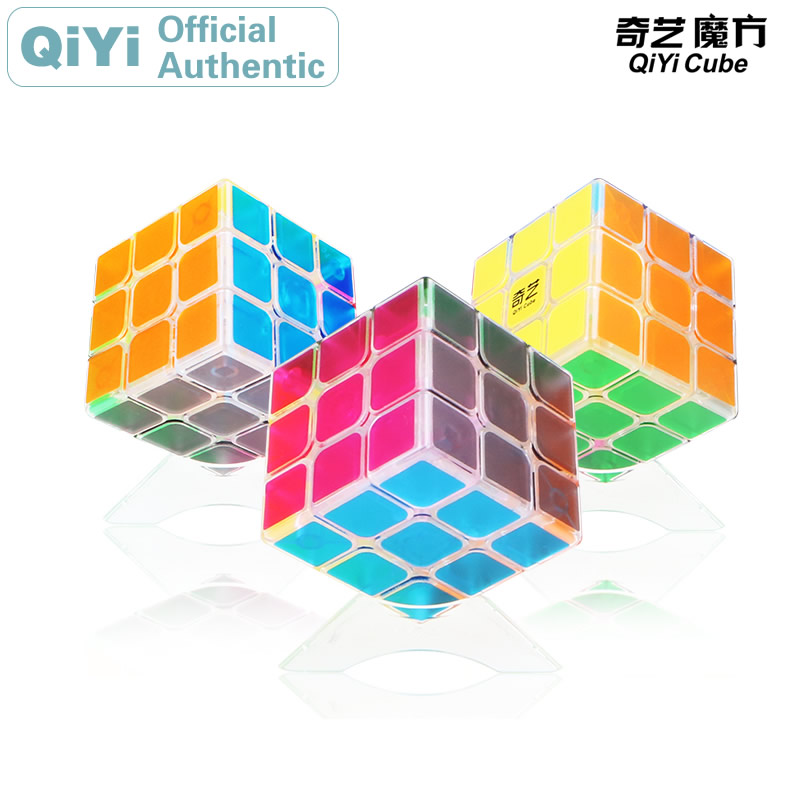 QiYi Sail QiHang 3x3x3 Magic Cube MoFangGe 3x3 Transparent  Cubo Magico Professional Speed Neo Puzzle Toys For Boys