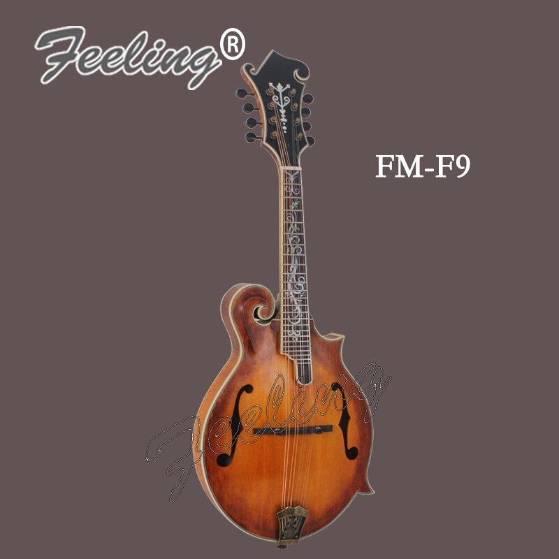 Mandoline à main FM-F9-C sentiment instrument de musique Solidespruce