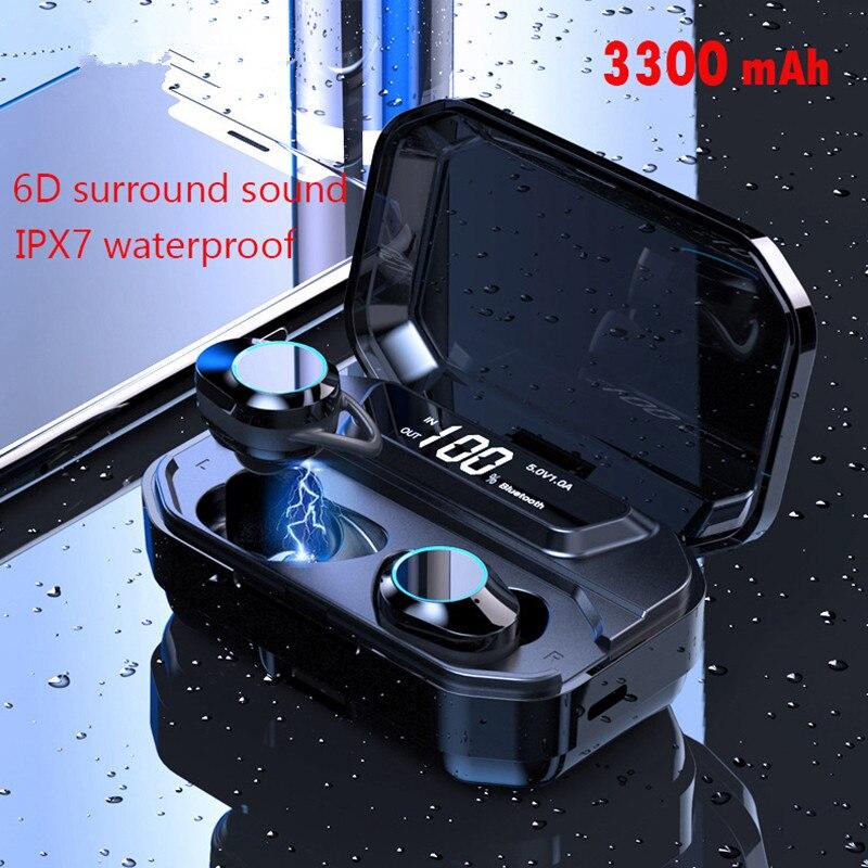 Bluetooth écouteurs TWS sans fil écouteurs avec étui de charge 6D stéréo pour iPhone xiomi xiaomi airdots pro PK i20 i30 i30tws i60