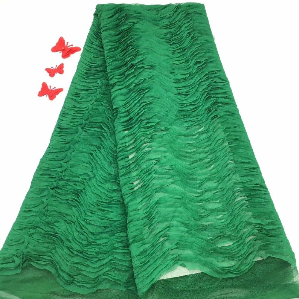 Madison afryki koronki tkaniny 2019 koronka wysokiej jakości, nigeryjczyk zielony kolor koronki tkaniny, Party netto koronki tkaniny szyfonowe w Koronka od Dom i ogród na  Grupa 1