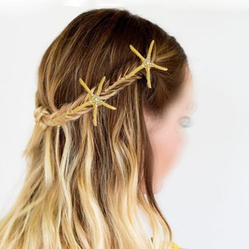 Neue Haarschmuck Frauen Mädchen Strand Haarschmuck Seestern Seestern - Bekleidungszubehör - Foto 4