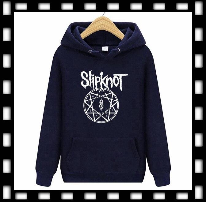 2019 Spring Hooded Men's Sweatshirts Hoodies Printing Rock Punk Rock Band Slipknot Hoodie Punk Women 7Color Hiphop Jacket