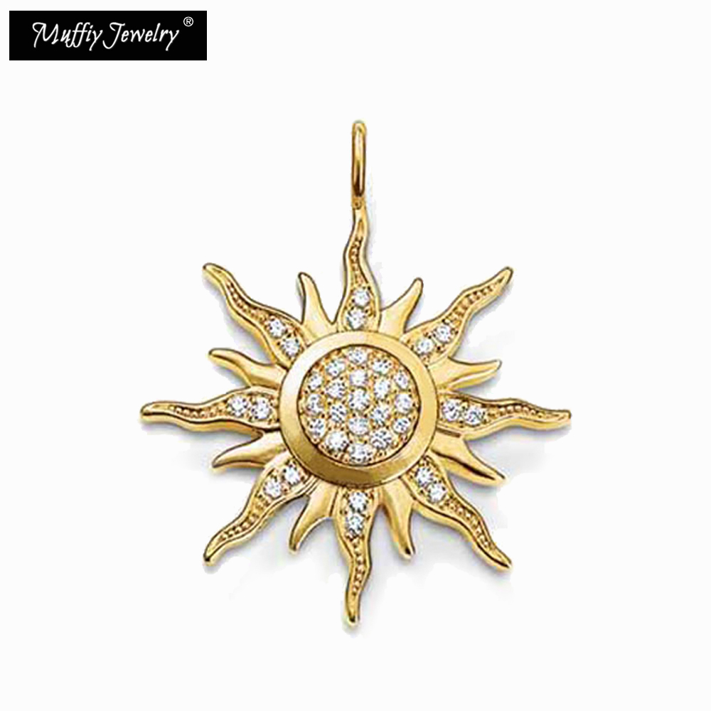 Golden Sun Pendant Ts Style Diy Jewelry Accessories For