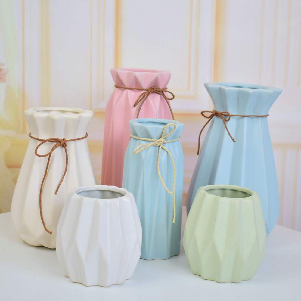 modern ceramic vase for flowers centerpieces for wedding decoration home table Christmas party decor white blue pink green