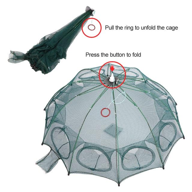 Awesome No1 Fishing Net Fish Trap Cage Fishing Accessories cb5feb1b7314637725a2e7: 10 Holes 93cm|4 Holes 66cm|6 Holes 93cm|8 Holes 93cm