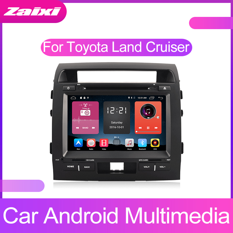 ZaiXi Android Car Multimedia player 2 Din WIFI GPS Navigation Autoradio For Toyota Land Cruiser LC200 2008~2012 Radio Maps