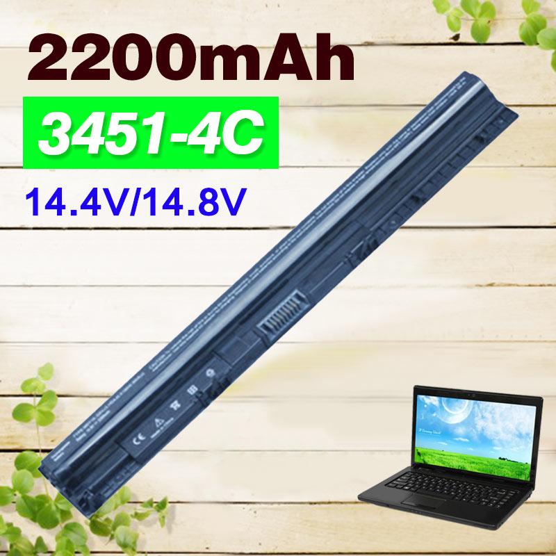 2200mAh 14.4V Laptop Battery For Dell K185W M5Y1K WKRJ2 GXVJ3 HD4J0 For Dell Inspiron 3451 3458 3551 3558 5455 5458 5555 series ноутбук dell inspiron 3558 3558 5285