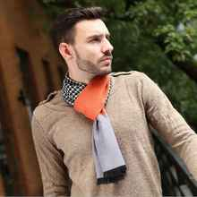 Winter Cotton Soft Scarf For Men Houndstooth font b Tartan b font Jacquard Scarfs Brand Men