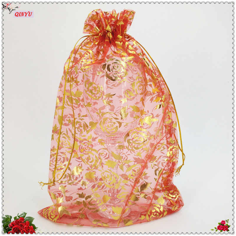 100pcs 13cmx18cm large Organza Bag Packaging Bags Wedding Gift DIY Organza Pouches Organza Eugen Gauze bag Tulle 5ZSH335