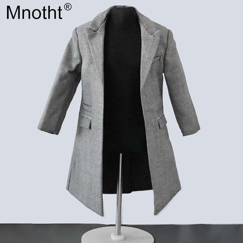 Mnotht 1/6 male cool coat tie grey clothes model Doll Overcoat Windbreaker suit toy for 12'' soldier action figure collection mb 1 6 scale figure doll clothes male batman ninja master suit for 12 action figure doll accessories not include doll and other