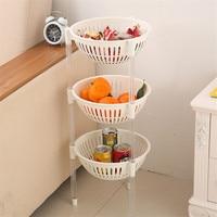 Kitchen Oval Food Storage Rack Placed Vegetables Fruits Storage Basket Multilayer Plastic Shelves Bathroom Toilet Storage Holder