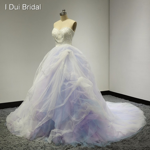 Sweetheart Ball Gown Pink Blue Purple Colored