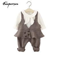 GOOPORSON Baby Girl Cotton Clothes Set Autumn Outfit For Kids Babies Outerwear 3pcs Children Clothing Set