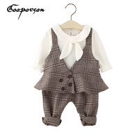 GOOPORSON Baby Girl Cotton Clothes Set Autumn Outfit For Kids Babies Outerwear 3pcs Children Clothing Set