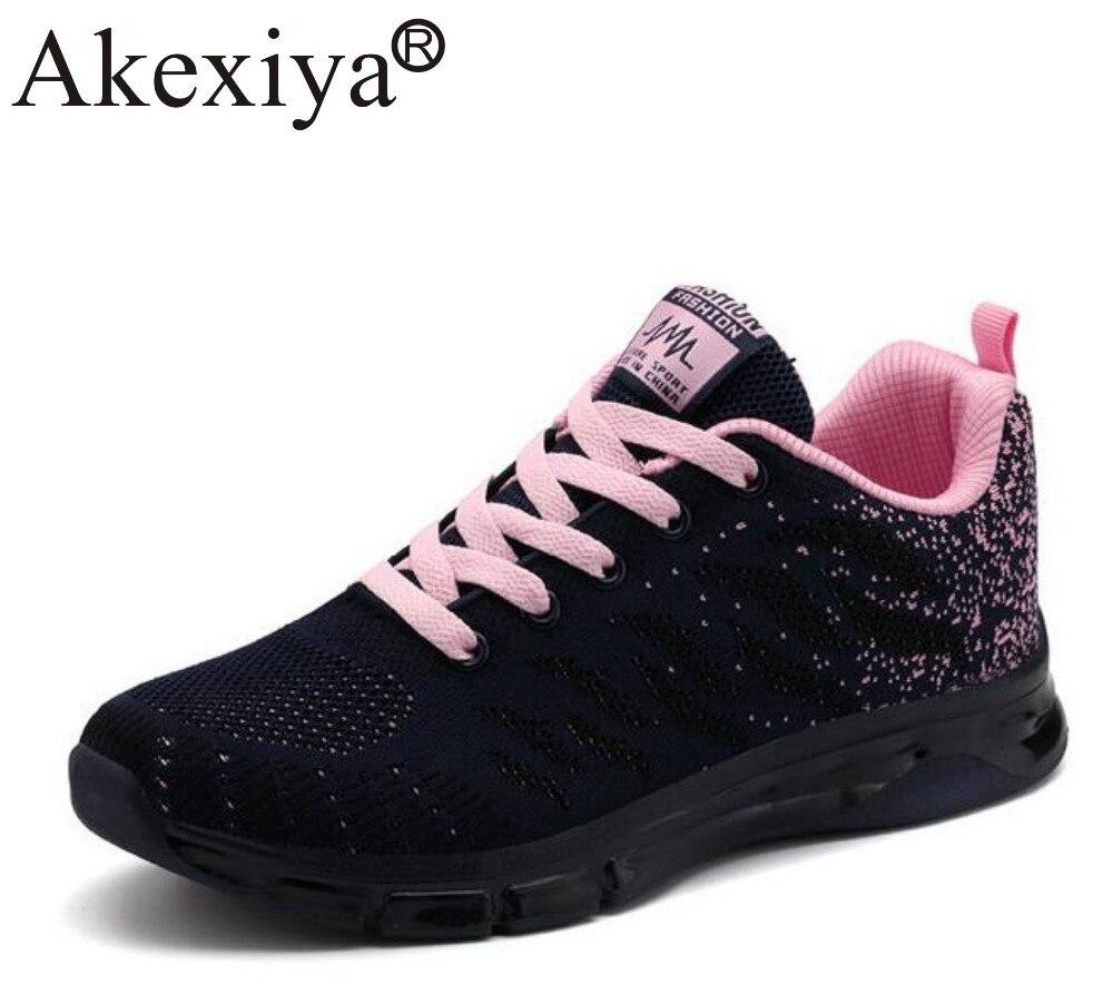 Akexiya Women Running Shoes Height Increasing Jogging Sports Summer Platform Wedge Sneakers Woman Breathable Baskets Homme Pink