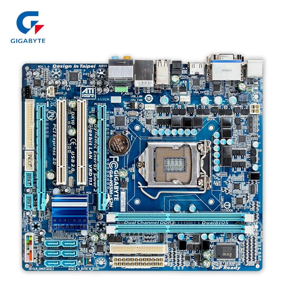 Gigabyte GA-H55M-S2H Desktop Motherboard H55M-S2H H55 LGA 1156 i3 i5 i7 DDR3 8G SATA2 Micro-ATX original motherboard for gigabyte ga h55m s2h lga 1156 ddr3 h55m s2h 8gb support i3 i5 i7 desktop motherboard free shipping