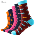 New Style MUSTACHE  ANCHOR  Man  Combed Cotton Socks  US 7.5-12 (5 pairs/lot )