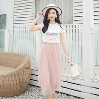 Women Long Dress Knitting Mesh Can Flip Sequins T S Super Love Dresses Pink Nothing Powder