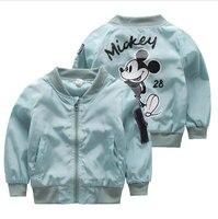 2017 Spring Autumn Jackets For Boy Coat Jacket Boy S Windbreaker Winter Jacket Mickey Print Kids