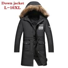 2017 new Plus Size 10XL 9XL 8XL winter jacket men coat duck down jacket with fur hood Removable parka men coat masculine jacket