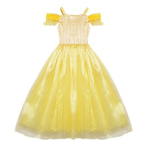 Image 2 - MUABABY Summer Girls Belle Dress up Kids Ruffles Beauty and The Beast Princess Costume Children Party Fantasy Clothes