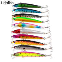 10pcs carp lure with fishing hook 8.5g artificial bait multicolors lake Fishing bait the same to real fishs 3Deyes Hard Baits